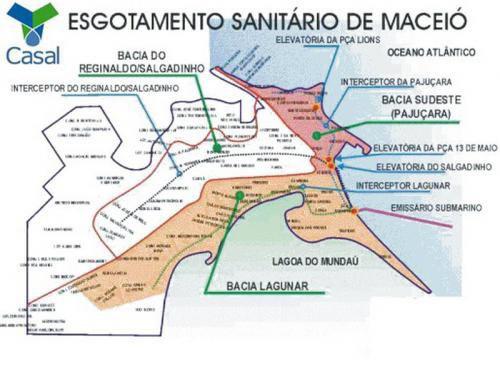 Mapa do Esgotamento Sanitário de Maceió